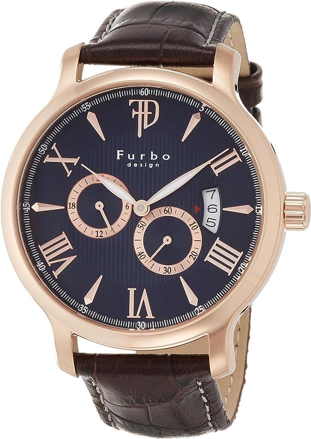 [フルボデザイン] 腕時計 F5028PBLBR メンズ ブラウン