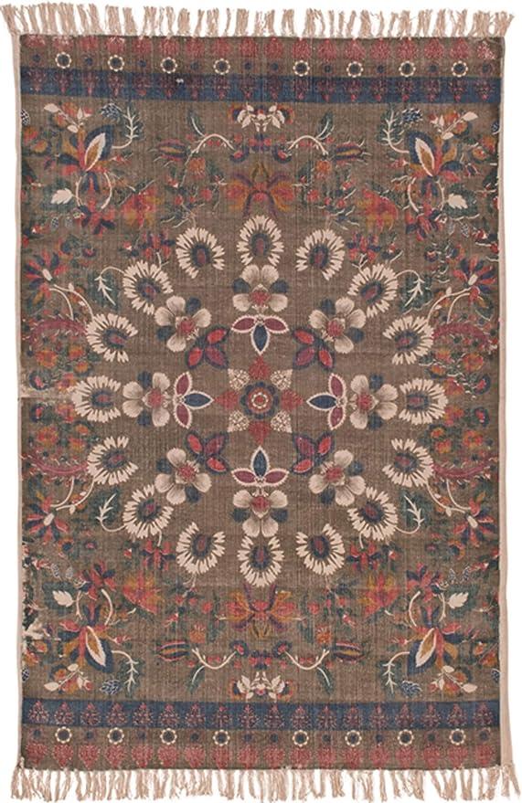 Ian Snow Bauer - Alfombra (algodón, diseño geométrico, Efecto Antiguo, 120 x 180 cm): Amazon.es: Juguetes y juegos
