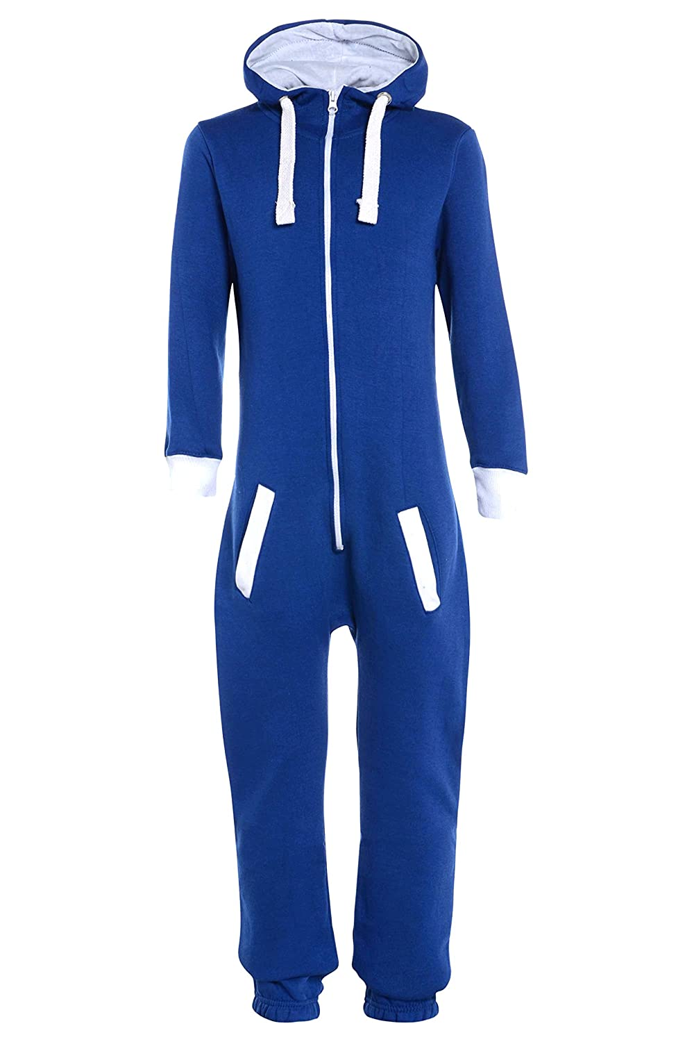 AEL Kids Plain Hooded Onesie/Childrens Jumpsuit (Girls Boys Onesies onesy Onsie)