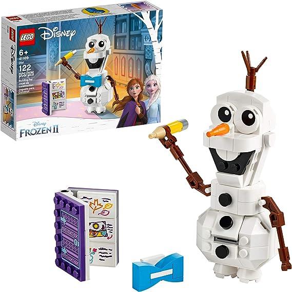 Amazon.com: LEGO Disney Frozen II Olaf 41169 Olaf Snowman Toy Figure Building Kit Christmas Gift (122 Pieces): Toys & Games