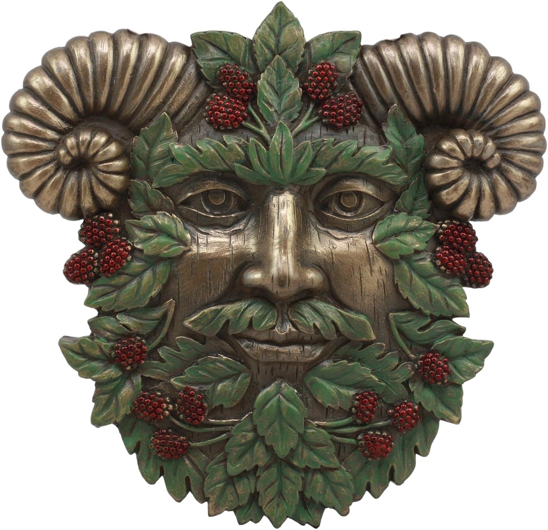 Ebros The Horned God Summer Harvest Celtic Greenman Wall Decor 6