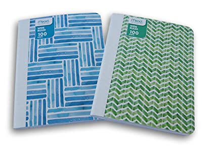 Amazon Green And Blue Patterned Wide Ruled 60 Sheets Interesting Blue Patterned Sheets