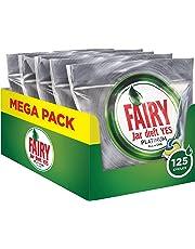 Fairy Platinum Detersivo in Caps per Lavastoviglie, Confezione da 125 Pastiglie, Limone