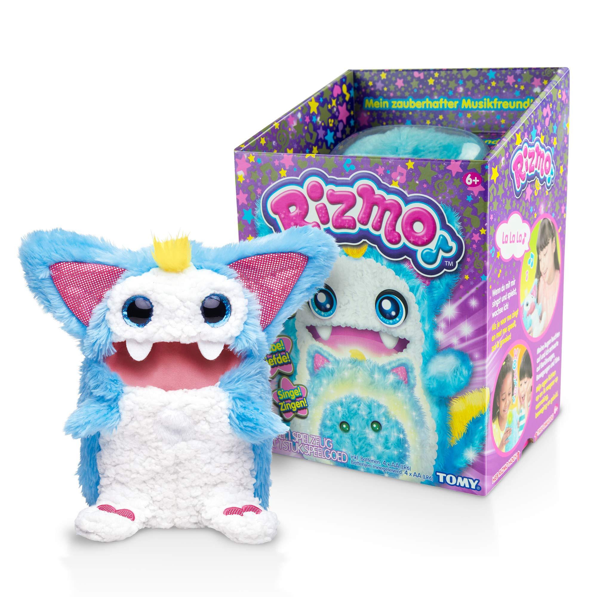 Rizmo Evolving Musical Friend Interactive Plush Toy with Fun Games, Aqua by Rizmo