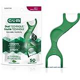 GUM Dual Technique Flossers, Mint, 50 ct