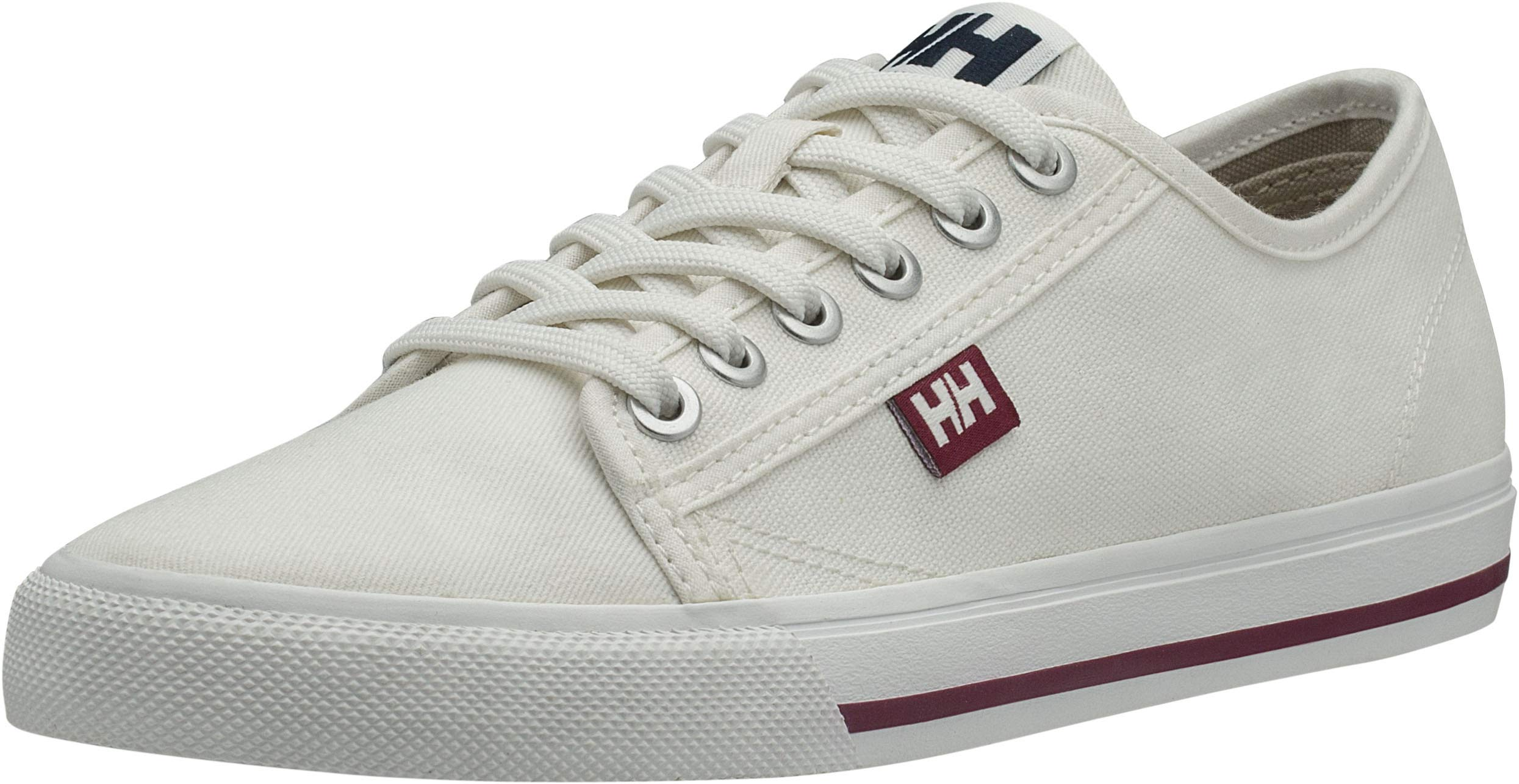 Helly Hansen Women's Fjord Canvas Shoe V2, Off White/Beet Red/Navy, 9 by Helly Hansen