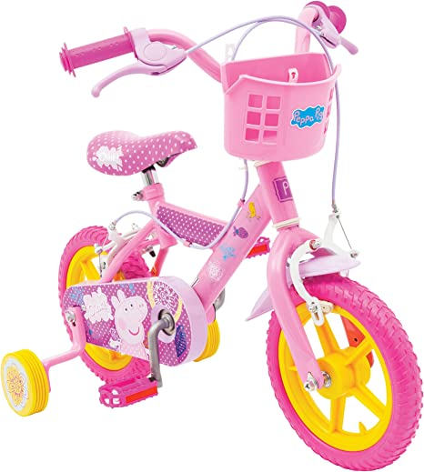 Peppa Pig Bicicleta, 12 in, color negro: Amazon.es: Deportes y ...