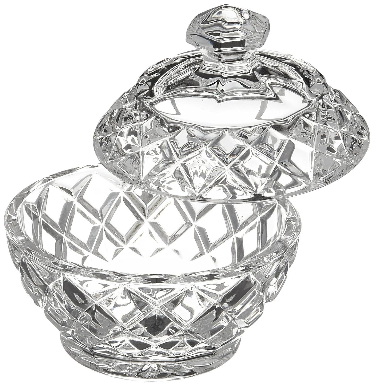 Amazon.com | Belleek Pottery Galway Crystal Ashford Trinket Box, 3.7 ...