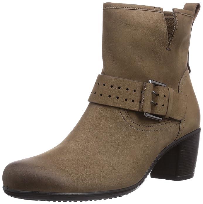 Ecco Touch 55B Birch Panama, Damen Biker Boots, Braun (BirchPanama02175), 41 EU
