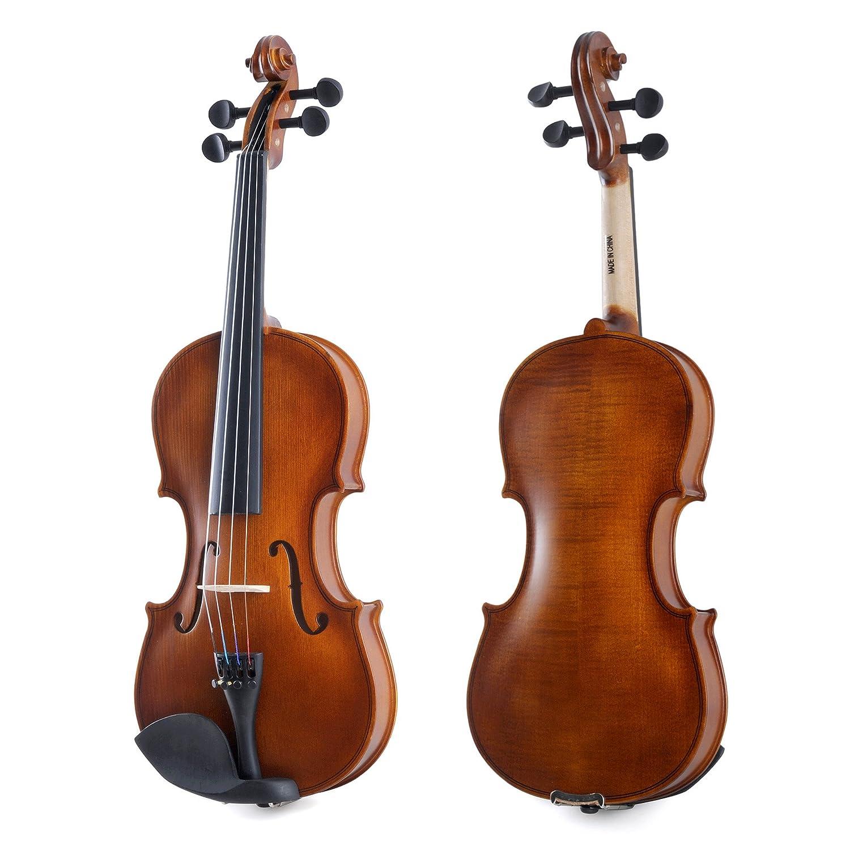 Aileen Violin 1//2 Quarter Size para principiantes Vintage Handmade Outfit con estuche r/ígido puente y pa/ño de pulido colofonia arco