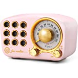 Retro Bluetooth Speaker FM Vintage Radio with Loud Volume, Strong Bass Enhancement, Bluetooth 4.2 Wireless Connection, Loud V