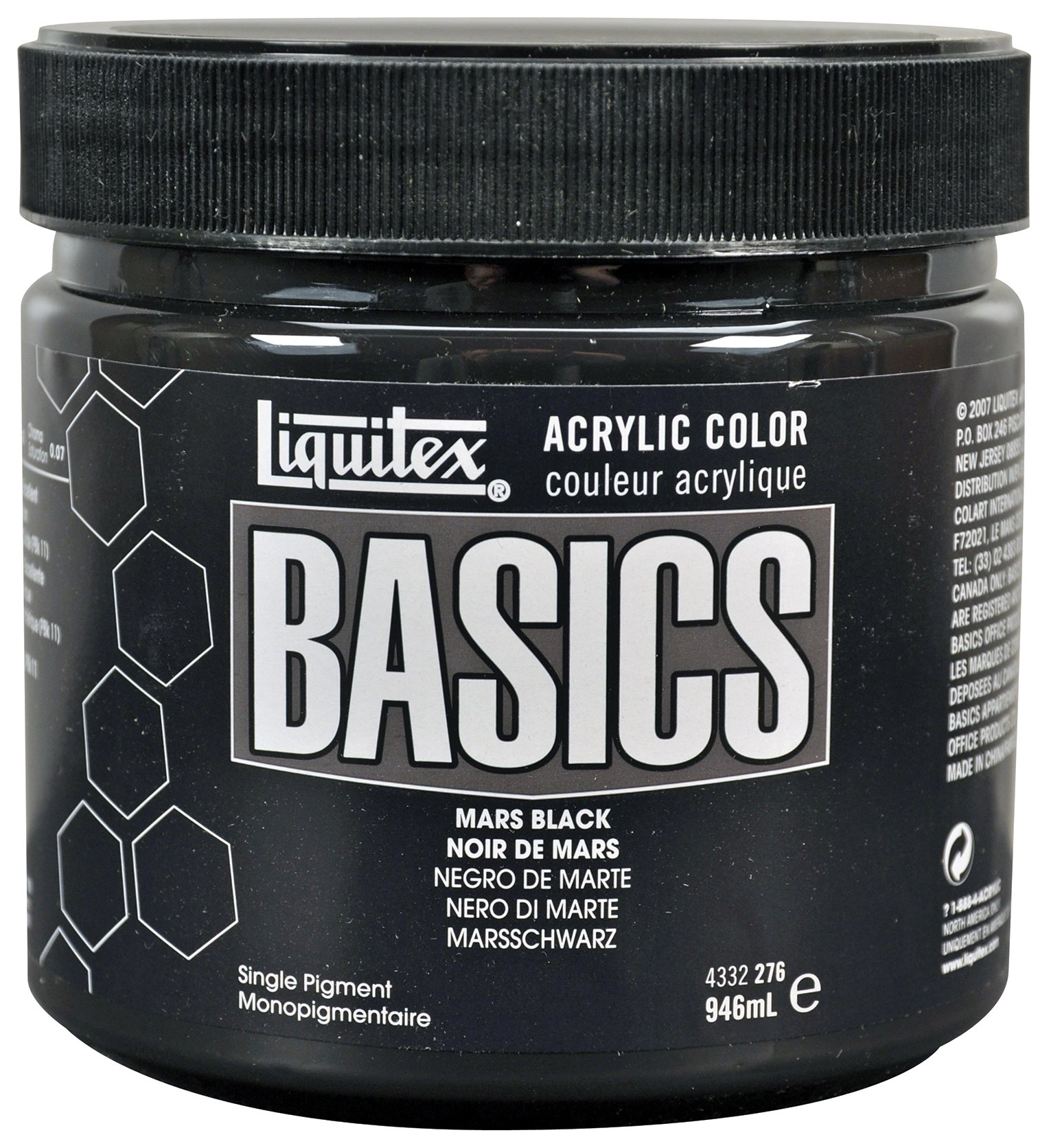 Liquitex BASICS Acrylic Paint 32-oz jar, Mars Black (4332276)