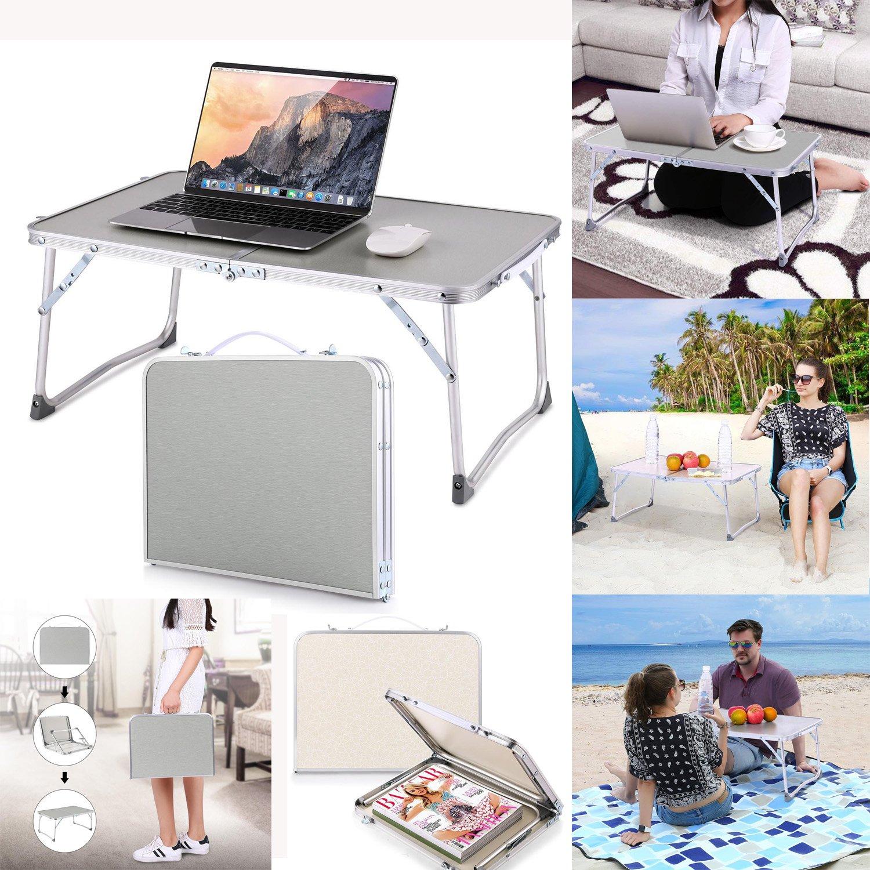 Keland Aluminum Folding Table Portable Lightweight Outdoor Picnic Camping Table Laptop Desk (US STOCK)