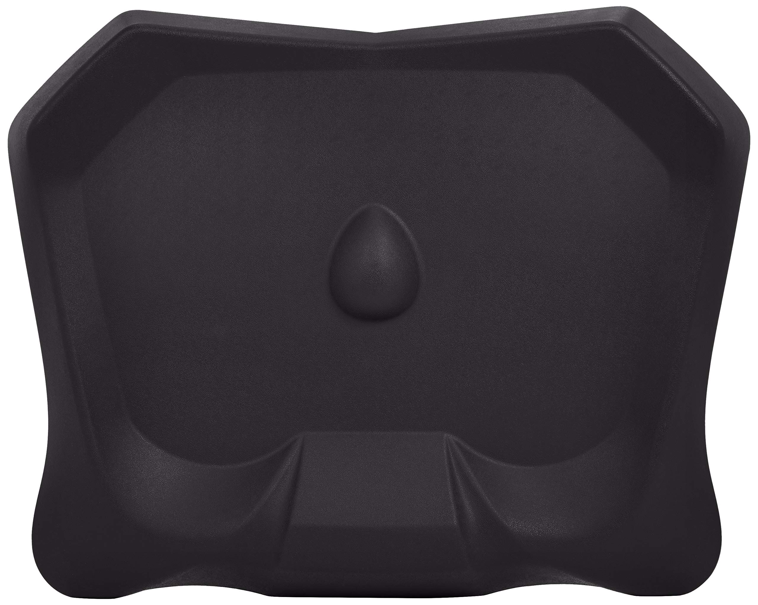 AmazonBasics Non-Flat Standing Desk Anti-Fatigue Mat, Black