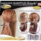 EZ Combs Fabulous Hairstyles Instantly! 4 Piece Set (Bermuda Black, Caramel Bronze, Dazzling Silver, Sahara Sandalwood)