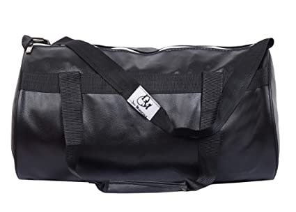Buy Dee Mannequin 2215 Trendy Leather Gym Bag (Black) Online at Low ... 38bf1c7ccced4