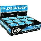 Dunlop Sports Intro Beginner Squash Ball, 12-Ball Box