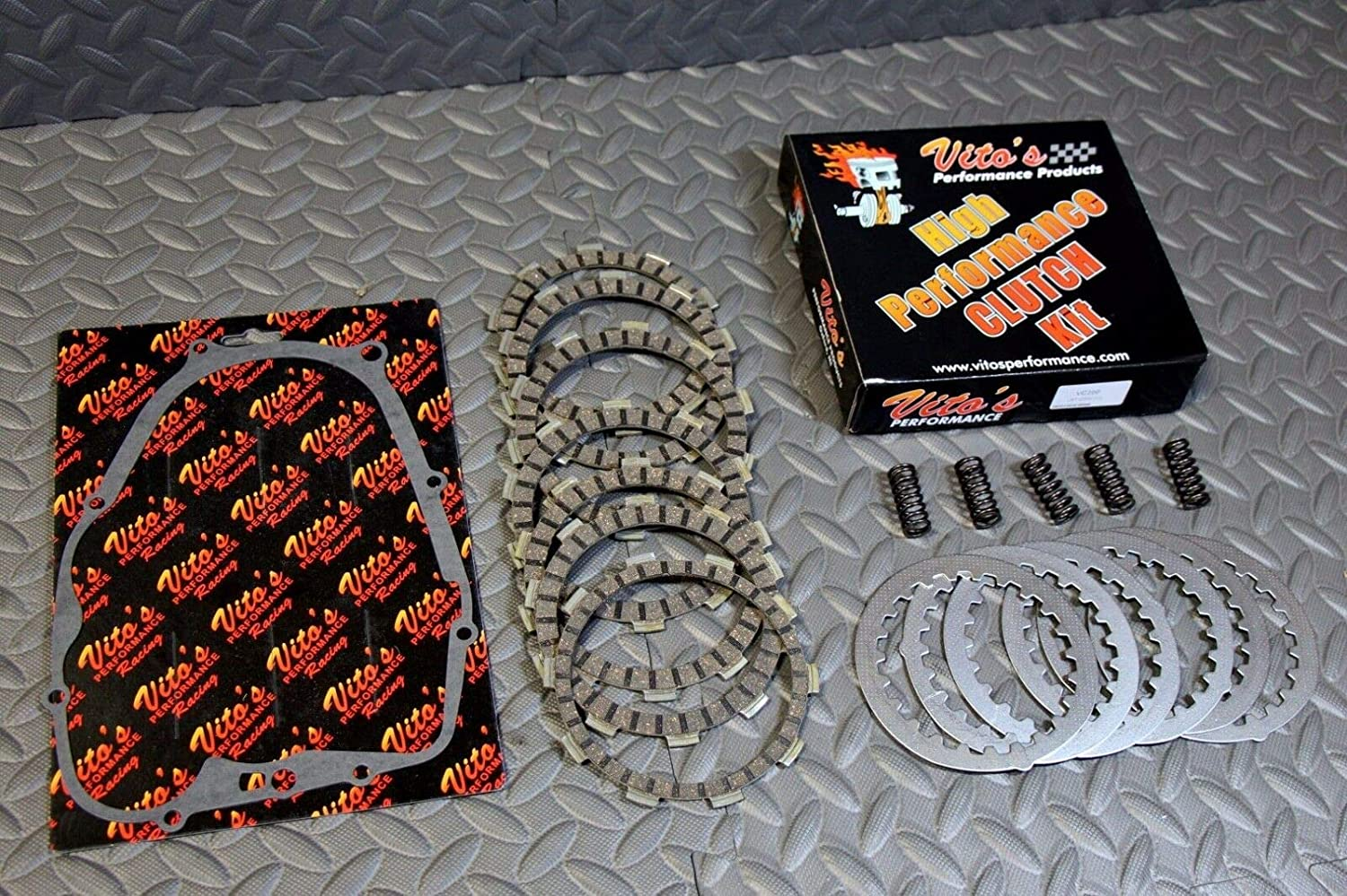 Springs Yamaha Blaster 1988-2006 Tusk Clutch Cover Gasket /& Cable Kit YFS 200