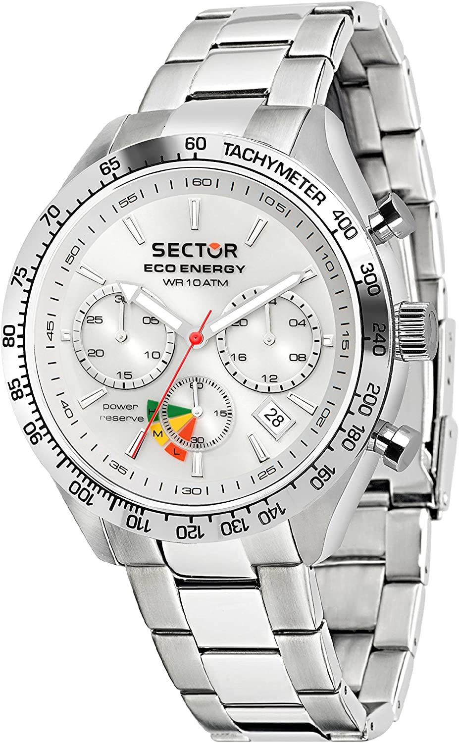 Sector No Limits Men's 695 Automatic-self-Wind Sport Watch with Stainless-Steel Strap, Silver, 18 (Model: R3273613003)