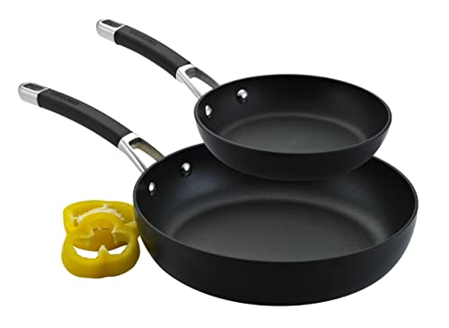 Circulon Premier Professional Hard Anodised 20/28 cm Frying Pan Twin Pack Set, 2-Piece - Black