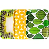 Serving Tray, Set of 3, 20 x 27 cm, Rectangular, Laminated and Extra Resistant, Perfect for Drinks, Tea and Coffee, Great for Parties, Colourful and Elegant - by Stoptray