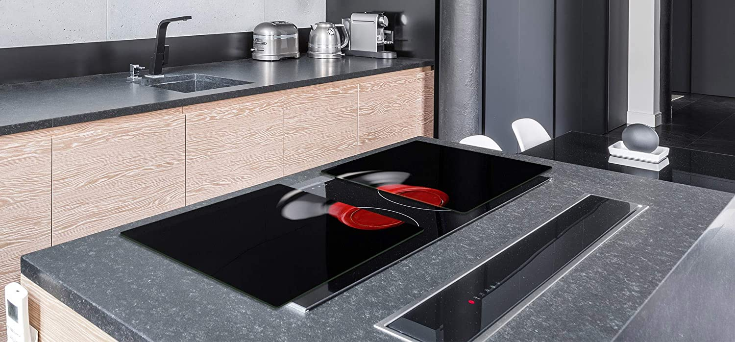 """; DOUBLE: 40 x 52 cm 15,75/"""" x 20,47/"""" BIG Induction Cooktop Cover ; Wine Series DD04 SINGLE: 80 x 52 cm 31,5/"""" x 20,47/"""" Glass Pastry Board"""