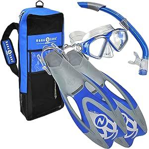 Aqua Lung Sport Cozumel LX - Pack de Snorkel, Color Azul, Talla L ...