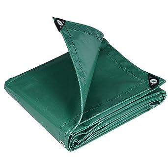 WOLTU Lona Impermeable Lona de Protección, Duradera con Ojales para Muebles, Jardín, Piscina, Coche PVC Verde 3X4M 500 g/m2: Amazon.es: Hogar