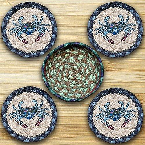 Earth Rugs 29-CB359BC Coaster Set, 5 , Blue