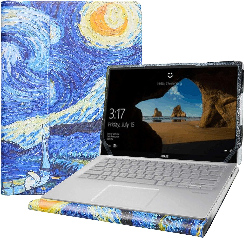 "Alapmk Protective Case for 14"" Asus Q406DA & Dell Latitude 7400 5400 5401 5410 5411/Latitude 5400 Chromebook Enterprise & Lenovo Yoga C940 14 C940-14IIL/Yoga C740 14 C740-14IML Laptop,Starry Night"