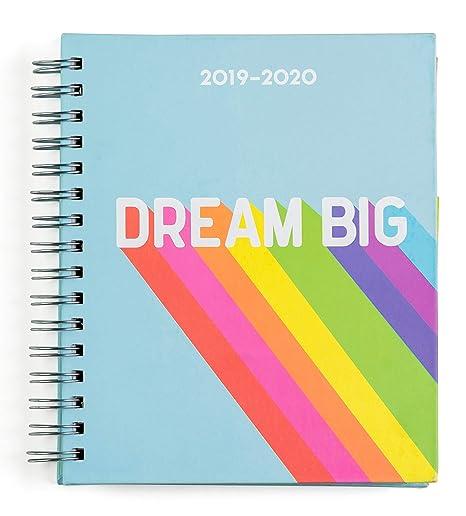 Amazon.com : 2019-2020 Eccolo Spiral Agenda Planner, Rainbow ...