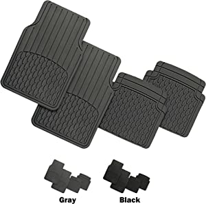 FH Group F11308GRAY Gray Trimmable Custom Fit All Weather Floor Mats Full Set