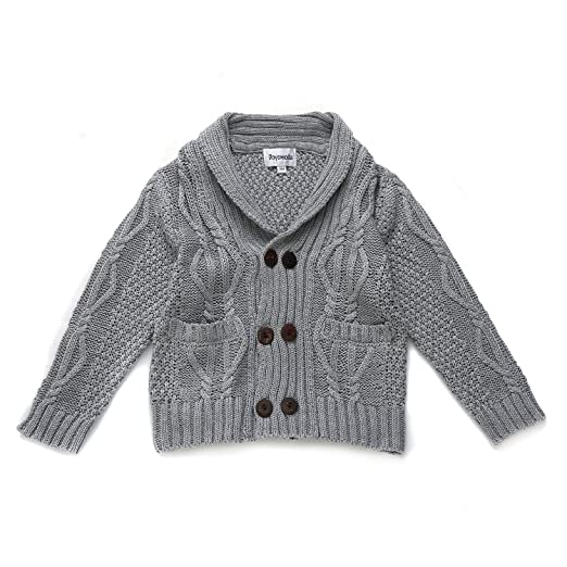 7b9c8d6ef Amazon.com  DOYOMODA Baby Boys 100% Cotton Cable Knit Cardigan ...