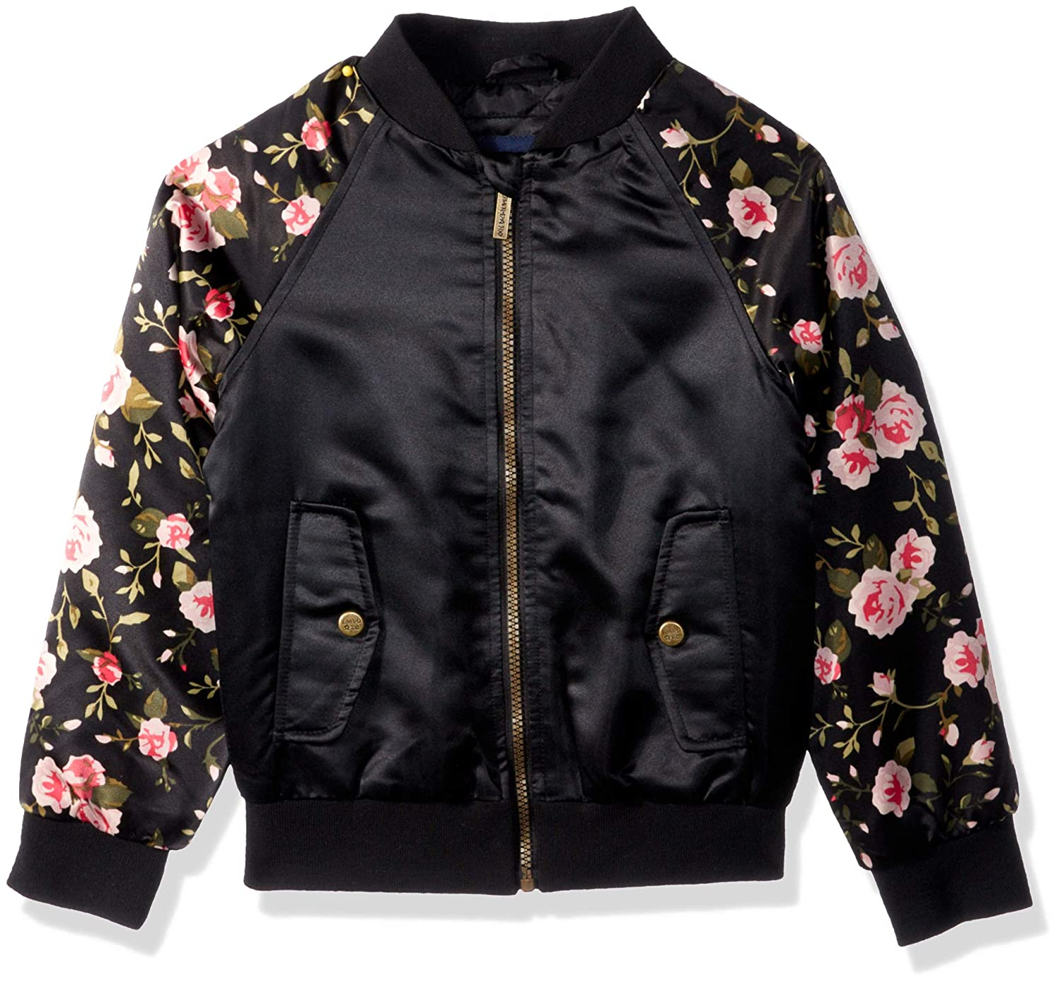 Limited Too Girls Little Bomber Jacket with Floral Print