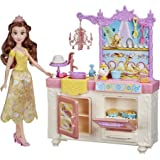 Disney Princess Belle's Royal Kitchen, Fashion Doll and Playset with 13 Accessories, Mrs. Potts, and Chip, Toy for Girls 3 Ye