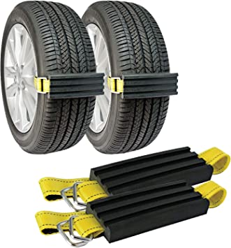 2 Pk Snow Tire Chain Trac-Grabber Unstuck Emergency Traction Car Van ATV UTV Mud