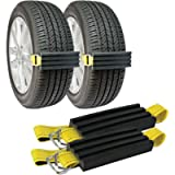 TRACGRABBER Tire Traction Device for Snow, Mud and Sand – for Cars and Small SUVs, Set of 2 – Easy to Install, Get…