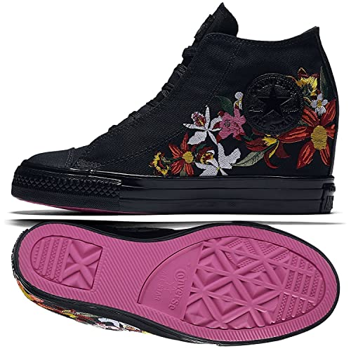 39d34c52f11e Converse x PatBo Chuck Taylor All Star Lux Mid 554865C Black Wedge Women  Shoes (Size