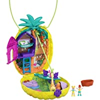 Polly Pocket Tropicool Pineapple Wearable Purse Compact with 8 Fun Features, Micro Polly and Lila Dolls, 2 Accessories…