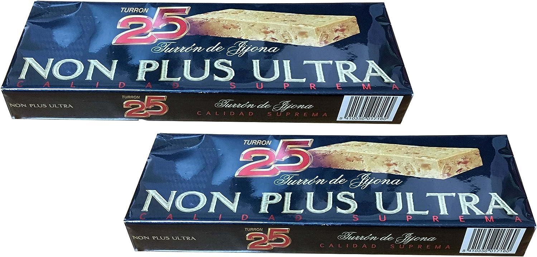 Turron25 - Pack incluye 2 Turron de Jijona Non Plus Ultra - Turron blando de almendras - Calidad Suprema- 400gr (Sin Gluten) Producto Español: Amazon.es: Alimentación y bebidas