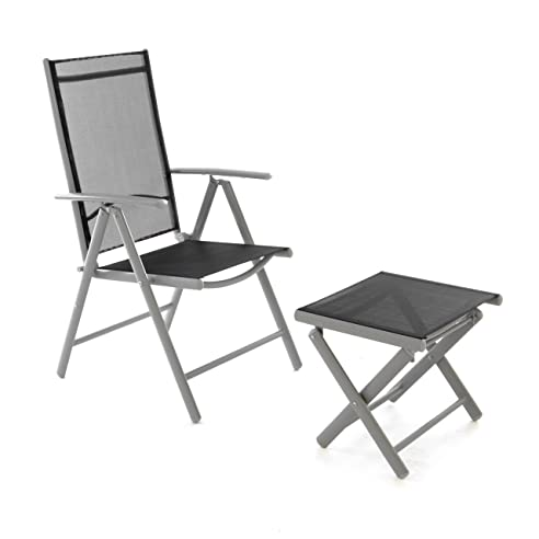 Gartenstühle alu schwarz  Amazon.de: Klappstuhl Gartenstuhl Campingstuhl Liegestuhl mit ...