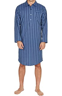 1750452b7e INSIGNIA Mens Easy Care Plain Lightweight Poly Cotton Nightshirt Night Shirt  (1 or 3 Pack