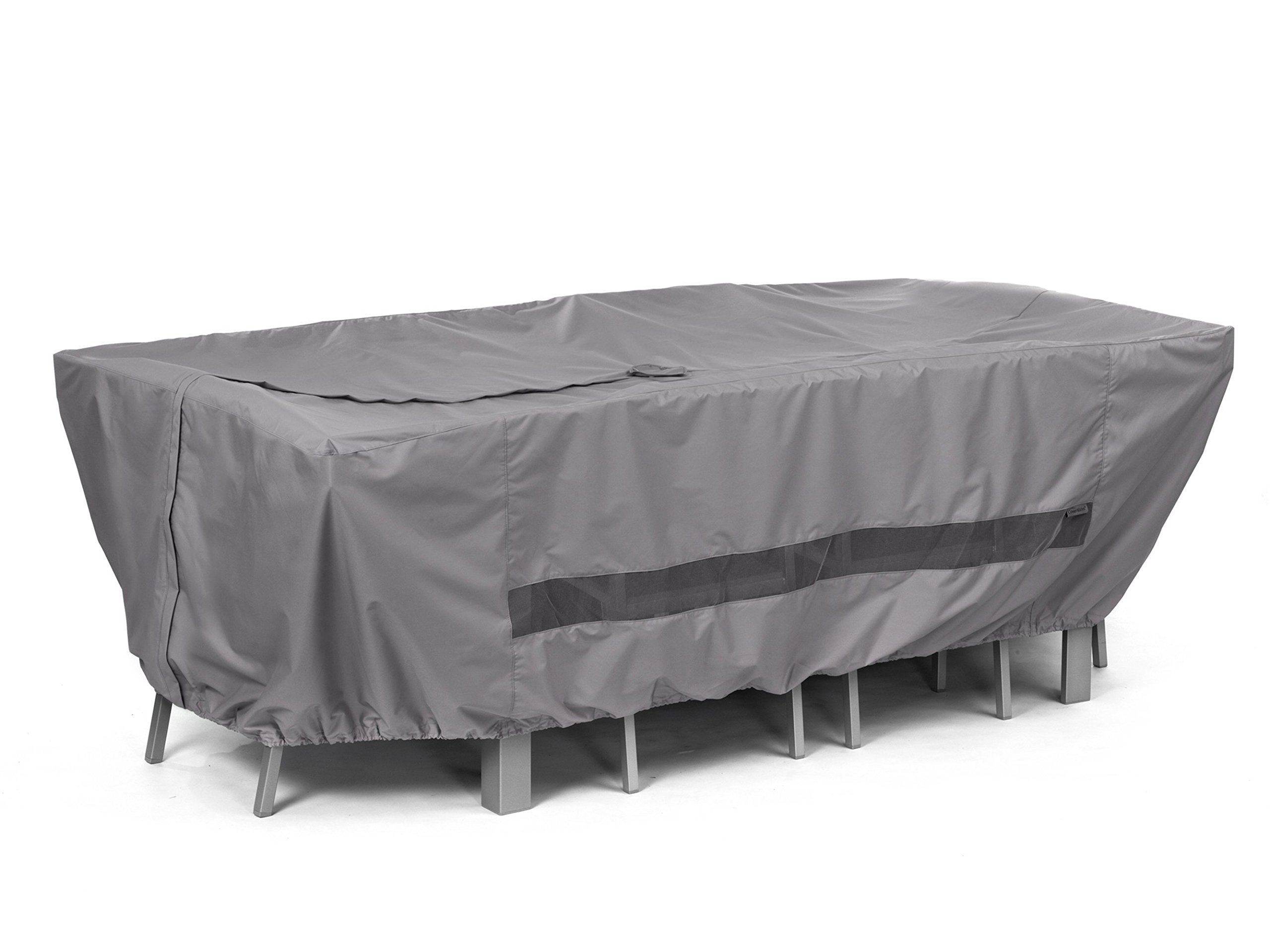 Covermates - Rectangular Dining Table/Chair Set Cover - 90W x 58D x 30H - Elite Collection - 3 YR Warranty - Year Around Protection - Charcoal by Covermates