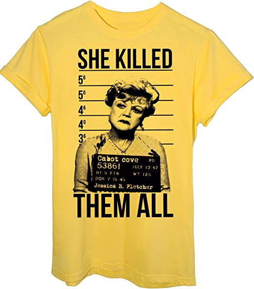 Maglietta iMage T-Shirt Jessica Fletcher HA Ucciso Tutti Foto SEGNALETICA Divertenti