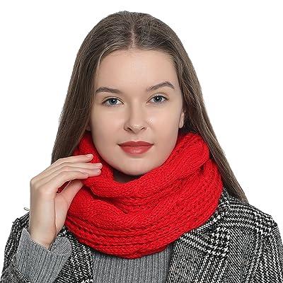 25d917ac2f63 Écharpe tube pour femme chaude et douce en tricot