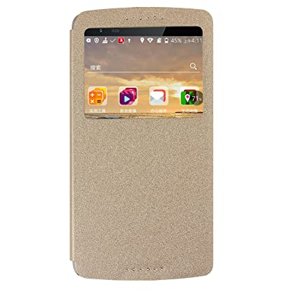 best website 6ba7a c6bb3 Lenovo Vibe X3 Flip Cover, Original Ziaon(TM) Super Series Single Window  Flip Stand Case For Lenovo Vibe X3 - Golden White