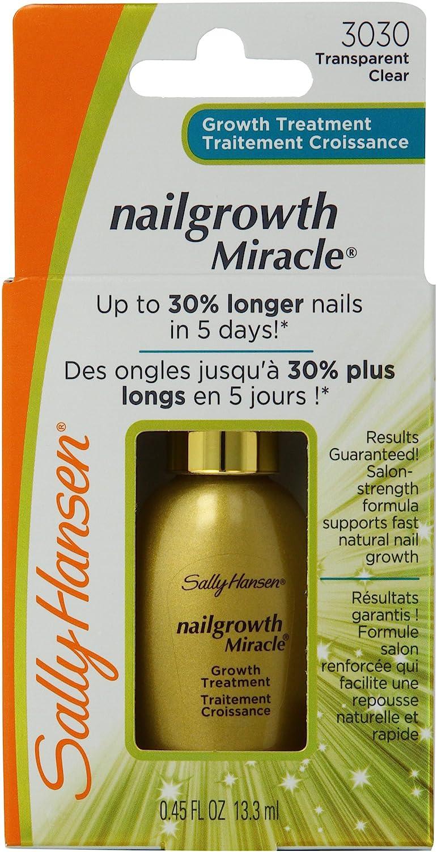 Amazon.com : Sally Hansen Nailgrowth Miracle, Serum 0.45 oz Clear ...