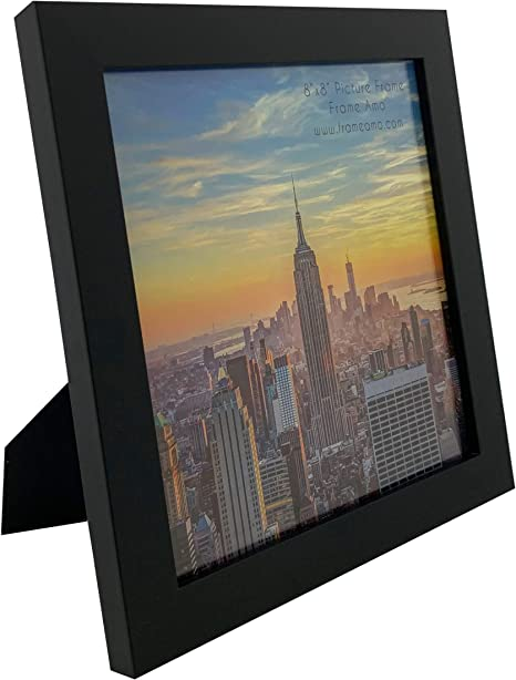 Dark brown. 15x15 cm For photo 6x6 inches With decorative hand sewing Photo frame Desk accesory Square Leather frame