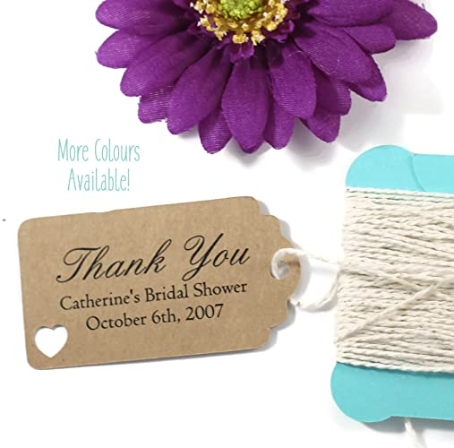 kraft brown bridal shower tags small personalized favor tags set of 20