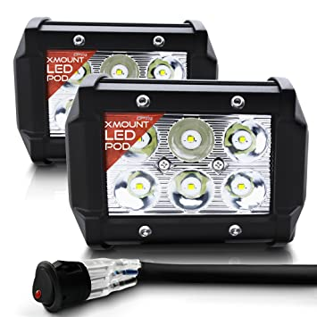 OPT7 CREE xMount LED Pod Pair with Wiring Harness (2 Pcs - 18w) Fog Opt Light Bar Wiring Harness on